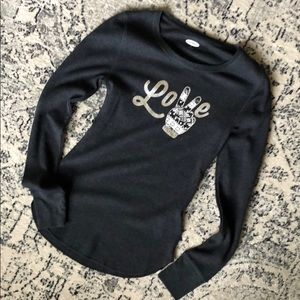 NWOT old navy winter thermal charcoal sz S